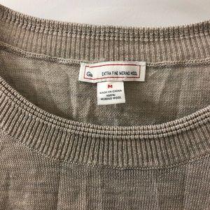 Soft beige merino wool sweater. Size Med from GAP